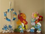 Smurf Decorations for Birthday Party the Paper Pony Smurfday Party Part 1 Decorations