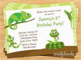 Snake Birthday Invitations Reptile Birthday Party Invitation