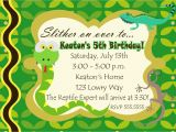 Snake Birthday Invitations Reptile Birthday Party Invitations Cimvitation