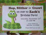 Snake Birthday Invitations Reptile Birthday Party Invitations Snake Invitation Frog