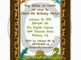 Snake Birthday Invitations Reptile Lizard Snake Birthday Party Invitations