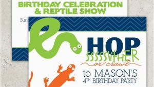 Snake Birthday Invitations Reptile Party Invitations Snake and Lizard Snake Birthday