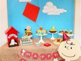 Snoopy Birthday Decorations Kara 39 S Party Ideas Peanuts Charlie Brown Birthday Party