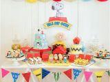 Snoopy Birthday Decorations Kara 39 S Party Ideas Peanuts Snoopy Birthday Party Kara