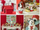 Snoopy Birthday Decorations Kara 39 S Party Ideas Snoopy themed Birthday Party Via Kara