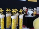 Snoopy Birthday Decorations Peanuts First Birthday Party Little Wish Parties