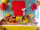 Snoopy Birthday Decorations Snoopy and Friends Birthday Party Ideas Photo 1 Of 16