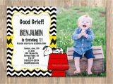 Snoopy Birthday Invitations Charlie Brown Birthday Invitation Snoopy for All Ages
