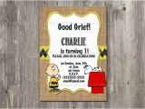 Snoopy Birthday Invitations Charlie Brown Birthday Invitation Snoopy Rustic Burlap