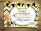 Snoopy Birthday Invitations Charlie Brown Snoopy Birthday Party Invitation Peanuts