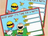 Snoopy Birthday Invitations Free Printable Peanuts Birthday Invitation