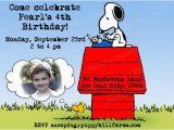 Snoopy Birthday Invitations Snoopy Birthday Invitation Personalized Snoopy Invite