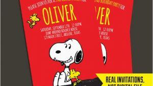 Snoopy Birthday Invitations Snoopy Invitation Snoopy Birthday