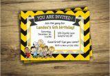 Snoopy Birthday Party Invitations Charlie Brown Birthday Party Invitation Peanuts Movie