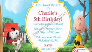 Snoopy Birthday Party Invitations Peanuts Movie Invitation Snoopy Birthday Invitation