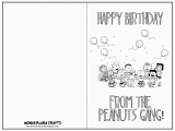 Snoopy Printable Birthday Cards Wonderland Crafts More Greeting Cards