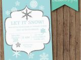 Snowflake Birthday Invitations Printable Winter Birthday Invitation Snowflake Invitation