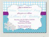 Snowflake Birthday Invitations Printable Winter Wonderland Birthday Invitation Frozen by sosprintables