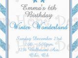 Snowflake Birthday Invitations Printable Winter Wonderland Invitation Winter Wonderland Birthday