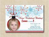Snowflake Birthday Invitations Printable Winter Wonderland Photo Snowflake Birthday Invitations Diy