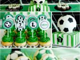 Soccer Decorations for Birthday Party Super soccer Birthday Party Pizzazzerie