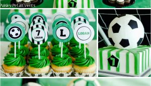 Soccer themed Birthday Party Decorations Super soccer Birthday Party Pizzazzerie