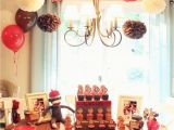 Sock Monkey Birthday Decorations Griffin 39 S sock Monkey Party Recap Love Of Family Home