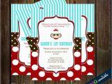 Sock Monkey First Birthday Invitations Birthday Invitations with sock Monkey for First Birthday
