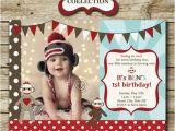 Sock Monkey First Birthday Invitations sock Monkey Birthday Party Photo Invitation by