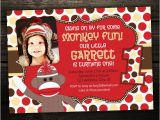 Sock Monkey First Birthday Invitations sock Monkey Invitation First Birthday Invite Red sock