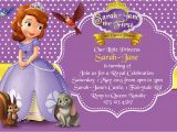 Sofia the First Birthday Card Template How to Create sofia the First Birthday Invitations Designs