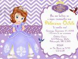 Sofia the First Birthday Card Template sofia the First Birthday Invitation Card Template Free