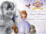 Sofia the First Birthday Card Template sofia the First Birthday Invitations Oxsvitation Com
