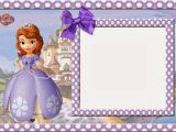 Sofia the First Birthday Card Template sofia the First Free Printable Invitations Cards or Photo