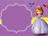 Sofia the First Birthday Card Template sofia the First Free Printable Invitations Oh My Fiesta
