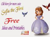 Sofia the First Birthday Card Template sofia the First Free Printable Invitations or Photo Frames