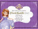 Sofia the First Birthday Card Template sofia the First Printable Birthday Invitation Princess