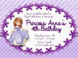 Sofia the First Birthday Invitations Printable 8 Best Images Of Free Printable Princess sofia Invitations