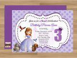 Sofia the First Birthday Invitations Printable Items Similar to Custom Printable sofia the First Birthday