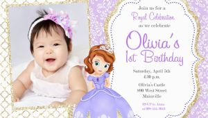 Sofia the First Birthday Invites sofia the First Party Invitations sofia the First Party