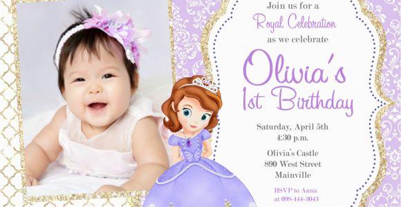 Sofia the First Birthday Invites sofia the First Party Invitations sofia the First Party