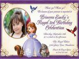 Sofia the First Custom Birthday Invitations Personalized Printable Invitations Cmartistry sofia