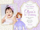 Sofia the First Custom Birthday Invitations sofia the First Birthday Party Invitation Digital File