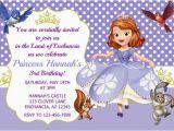 Sofia the First Custom Birthday Invitations sofia the First Invitation Princess sofia Invitation