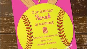 Softball Birthday Invitations softball Invitation Birthday Invitation softball Invite