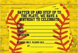 Softball Birthday Invitations softball Party Invitations