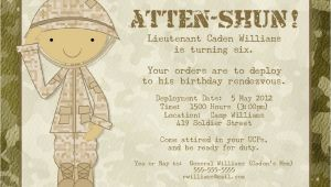 Soldier Birthday Party Invitations soldier Birthday Party Invitation Printable by Photogreetings
