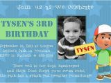 Son Birthday Invitation Wording 17 Best Images About Handy Manny Party On Pinterest
