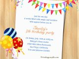 Son Birthday Invitation Wording 7th Birthday Party Invitation Wording Wordings and
