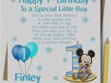 Son First Birthday Card Collection Of 1st Birthday Card Boy Personalised Godson